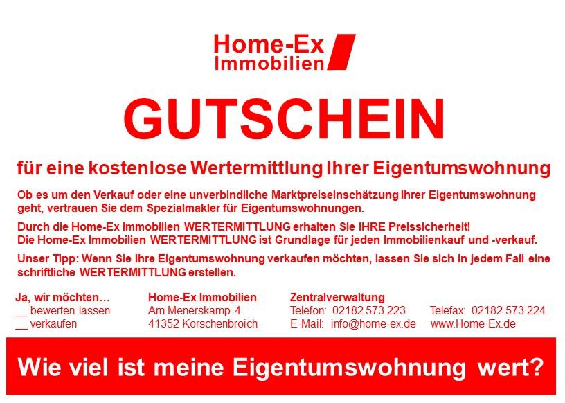 Online Gutschein Wertermittlung Eigentumswohnung von Home-Ex Immobilien